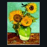 "Van Gogh&#39;s Sunflowers (3) Postcard<br><div class=""desc"">Van Gogh&#39;s Sunflowers (3) postcard.</div>"