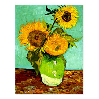 Van Gogh's Sunflowers (3) Postcard