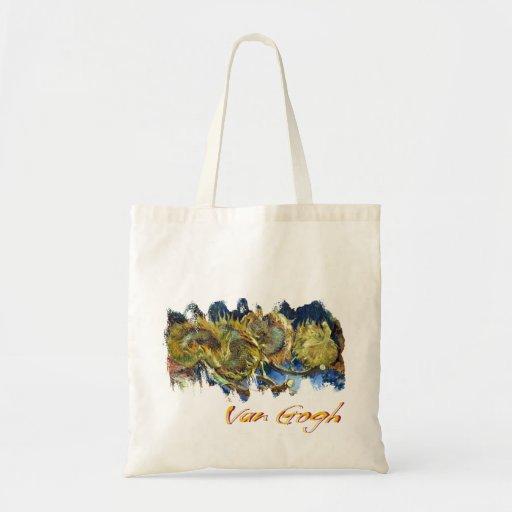 Van Gogh's Sunflowers Canvas Bags