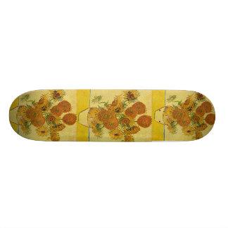 Van Gogh's 'Sunflowers' Skate Deck