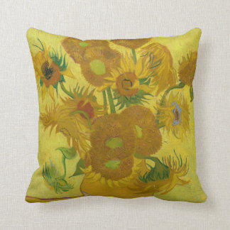 Van Gogh's Sunflowers Throw Pillow