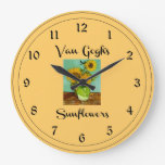 Van Gogh's Sunflowers Wallclock