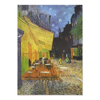 Van Gogh's Terrace Cafe 4.5x6.25 Paper Invitation Card
