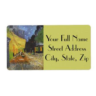 Van Gogh's Terrace Cafe Label