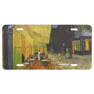 Van Gogh's Terrace Cafe License Plate
