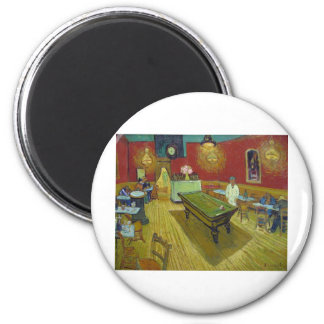 Van Gogh's The Night Cafe 2 Inch Round Magnet
