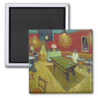 Van Gogh's The Night Cafe 2 Inch Square Magnet