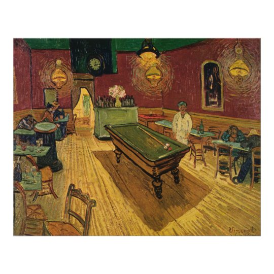 Van Gogh's The Night Café (Le Café de nuit) 1888 Poster