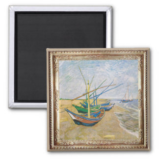 Van Gough Fishing Boats Masterpiece Magnet