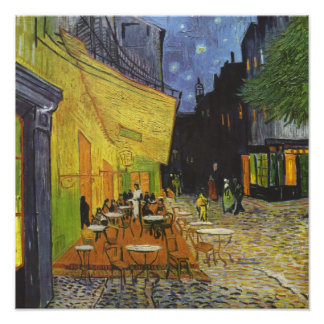 Van Gough on Glossed Canvas Poster