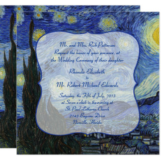 Van Gough Starry Night Wedding Invitation