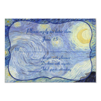 Van Gough Starry Night Wedding Response Card