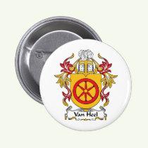 Van Heel Family Crest Button