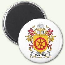 Van Heel Family Crest Magnet
