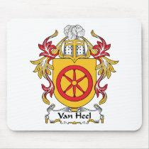 Van Heel Family Crest Mousepad