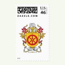 Van Heel Family Crest Stamps