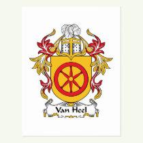 Van Heel Family Crest Postcard