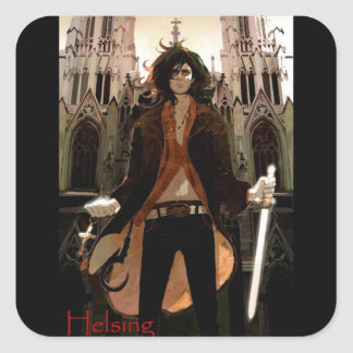 Van Helsing: Young, Sexy Version Square Sticker