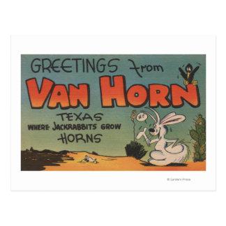 Van Horn, Texas (Jackrabbit & Crow) Post Cards