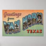 Van Horn, Texas - Large Letter Scenes Print