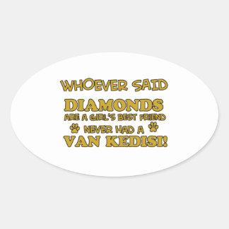 Van Kedisi Cat designs Oval Sticker