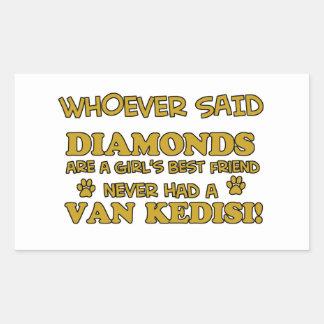 Van Kedisi Cat designs Rectangular Sticker