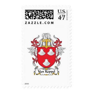 Van Keppel Family Crest Postage