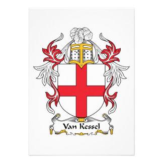 Van Kessel Family Crest Personalized Invites