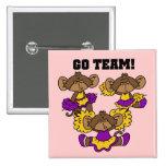 Van la púrpura del equipo y las camisetas y los re pin