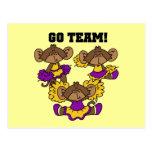 Van la púrpura del equipo y las camisetas y los re postales