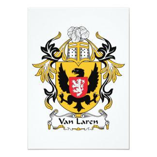Van Laren Family Crest Card
