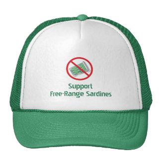 Van las sardinas de la Libre-Gama de Fish_Support Gorro