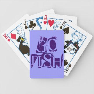 Van las sombras de los pescados de los naipes púrp barajas de cartas