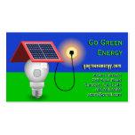 Van las tarjetas de visita verdes de la energía