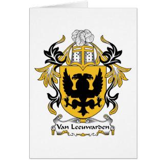 Van Leeuwarden Family Crest Card