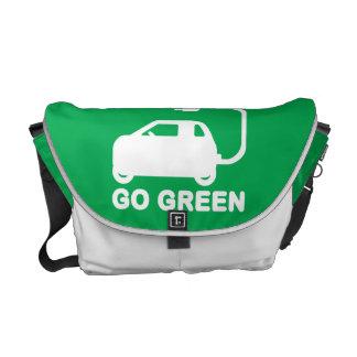 Van los coches eléctricos de la impulsión verde de bolsas messenger