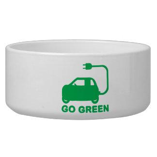 Van los coches eléctricos de la impulsión verde de bol para perro