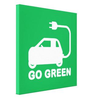 Van los coches eléctricos de la impulsión verde de impresión en lona estirada
