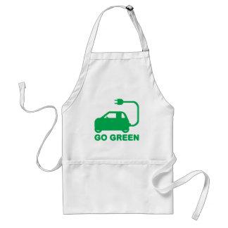 Van los coches eléctricos de la impulsión verde delantal