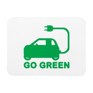 Van los coches eléctricos de la impulsión verde imanes rectangulares