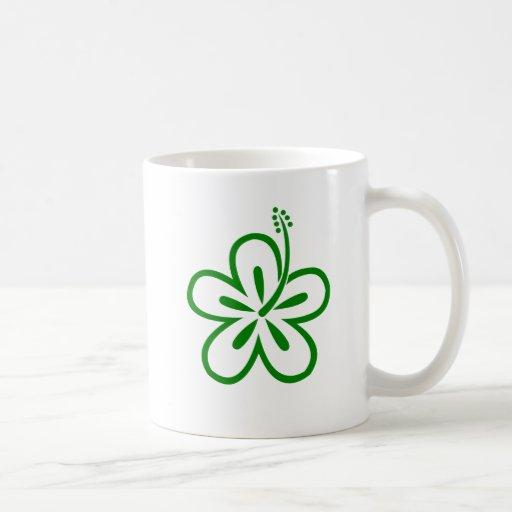 van los diseños florales verdes tazas