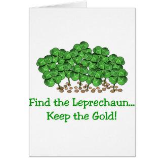 ¡Van los irlandeses! Tarjeta De Felicitación