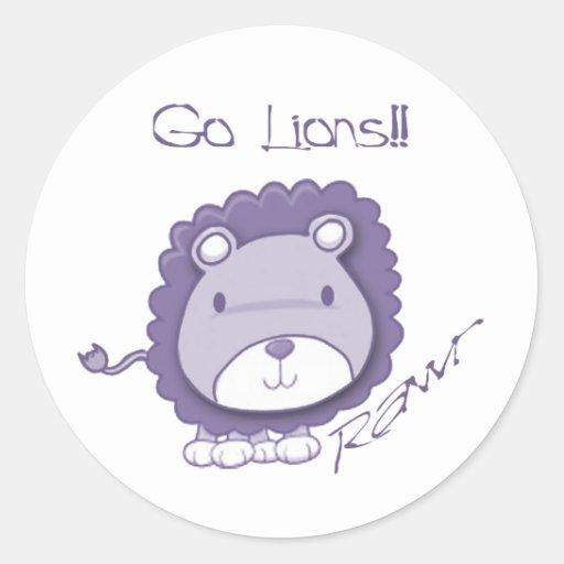¡Van los leones! Pegatina