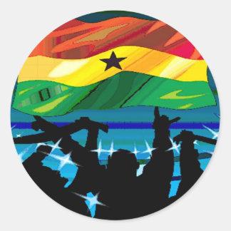 Van los pegatinas del soocer de Ghana