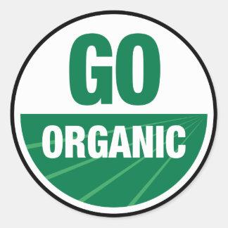 Van los pegatinas redondos orgánicos pegatina redonda