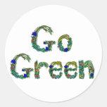 Van los pegatinas verdes etiqueta redonda