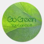 Van los pegatinas verdes etiquetas redondas