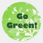 Van los pegatinas verdes pegatinas redondas