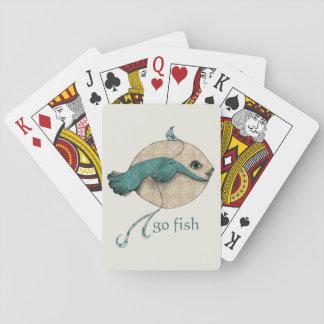 Van los pescados cartas de póquer