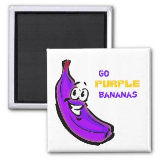 ¡Van los plátanos púrpuras Imán